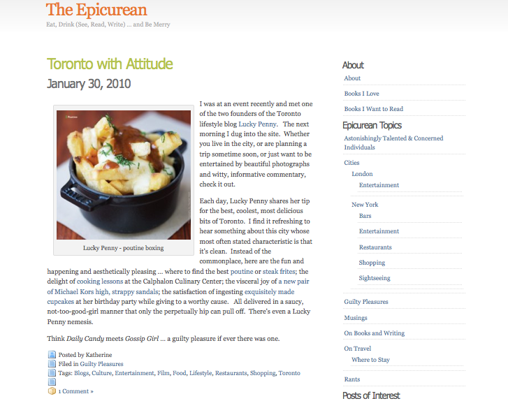 january 2010. the epicurean—january 2010